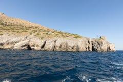 A view of the Amalfi Coast between Sorrento and Positano. Campania. Italy stock photos