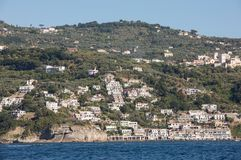 A view of the Amalfi Coast between Sorrento and Positano. Campania Stock Images