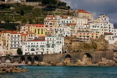 City view . Amalfi. Campania. Italy stock photos