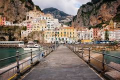 City view . Amalfi. Campania. Italy royalty free stock images