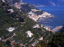 View of Amalfi, Italy. Royalty Free Stock Images