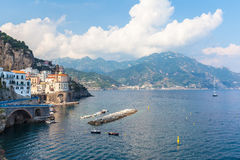View of Amalfi in South Italy Stock Photo