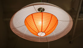 View of amazing beautiful modern interior stylish ceiling colorful light Stock Images
