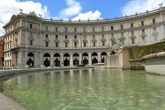 View on AmbasciataTurchia from Fontana delle Naiadi in Rome Stock Photography