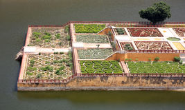 View of Amber Fort gardens Stock Image