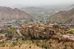 View of  Amber fort in Jaipur Stock Photography