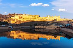 View of Amber Fort in Jaipur, Rajasthan, India