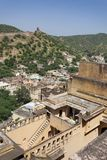 View from Amber Fort near of Jaipur Stock Photos
