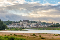 View of Amboise on the banks of the Loire Stock Photography