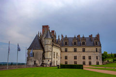 View of Amboise castle. Closeup scenic photography of Amboise castle in France Royalty Free Stock Photography