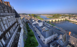 Amboise castle. View from Amboise castle to Loire Valley, France Royalty Free Stock Photography