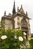 View on Amboise chapel. Park view on Amboise chapel. Loire valley, France Royalty Free Stock Images