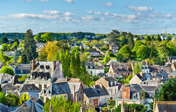 View of Amboise, a town in the Loire Valley, France. View of Amboise, a town in the Loire Valley - France Stock Photos