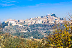 View of Amelia, old town in Umbria. Italy. royalty free stock images