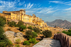 View of Amer (Amber) fort, Rajasthan, India. Indian travel famous tourist landmark - view of Amer (Amber) fort, Rajasthan, India Royalty Free Stock Photography