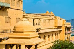View of Amer Fort in Jaipur. A major tourist attraction in Rajasthan, India. View of Amer Fort in Jaipur. A major tourist attraction in Rajasthan State of India Royalty Free Stock Photos