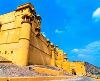 View of Amer Fort in Jaipur. A major tourist attraction in Rajasthan, India. View of Amer Fort in Jaipur. A major tourist attraction in Rajasthan State of India Stock Photo