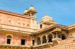 View of Amer Fort in Jaipur. A major tourist attraction in Rajasthan, India. View of Amer Fort in Jaipur. A major tourist attraction in Rajasthan State of India Royalty Free Stock Image