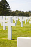 View at American Cemetery in Normandy, France Royalty Free Stock Photo
