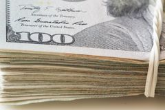 View of the USA dollars, lot of money Royalty Free Stock Photo