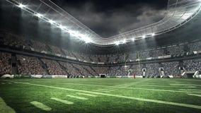 View of an american football stadium