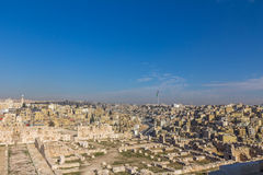 View of Amman Citadel Jordan Stock Photos