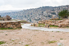 View on Amman city from citadel hill Stock Photography