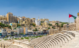 View of Amman from Roman Theater Royalty Free Stock Photography