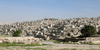 View of Amman's skyline, Jordan Royalty Free Stock Photos