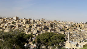 View of Amman's skyline, Jordan, Middle East Royalty Free Stock Photo