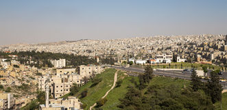 View of Amman's skyline, Jordan, Middle East Royalty Free Stock Photos