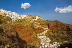 View from Amoudi Santorini Stock Photography