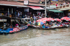 View of Amphawa Floating market, Amphawa, Thailand Stock Images