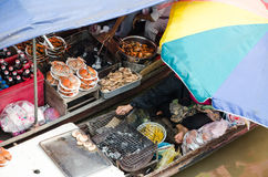 View of Amphawa Floating market, Amphawa, Thailand Stock Image