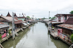 View of Amphawa Floating market, Amphawa, Thailand Stock Photo