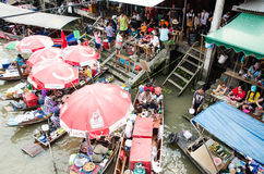 View of Amphawa Floating market, Amphawa, Thailand Royalty Free Stock Image