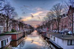 View of Amsterdam heritage famous city canals Royalty Free Stock Photo
