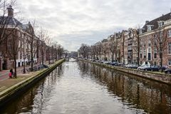 View on Amsterdam Holland Stock Photo