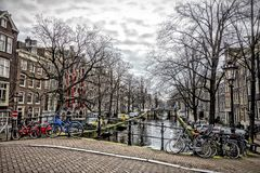 View on Amsterdam Holland Royalty Free Stock Photos
