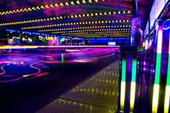 bumper cars in motion Royalty Free Stock Photo