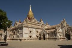 View of the Ananda Temple, Bagan. Panoramic View of the archaeological park of the ancient temples and pagodas of Bagan. Myanmar royalty free stock photo