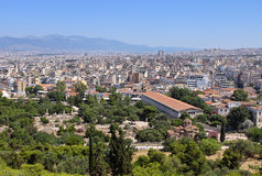 View of the ancient agora Royalty Free Stock Photos
