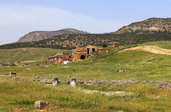 View of ancient amphitheater in Hierapolis, Turkey Royalty Free Stock Photography