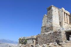 View of ancient Athens Acropolis propylaea Stock Images