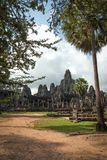 View of Bayon in Seam Ream, Cambodia. View of ancient building of Bayon in daytime in Seam Ream, Cambodia Stock Images