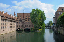 View of the ancient buildings of Nuremberg Stock Images