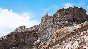 View of ancient castle in Calatabiano town Stock Photos
