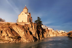 A view of the ancient church on a cliff Royalty Free Stock Photography