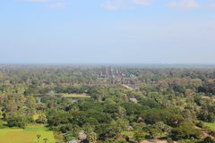 Angkor from the balloon Royalty Free Stock Photos
