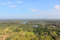 Angkor from the balloon Stock Image